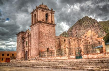 Exterior view to Iglesia de Santa Isabel de Pucara at Puno, Peru