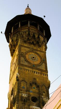 Exterior view to minaret of old al-Qalai Mosque, Damascus, Syria Reklamní fotografie