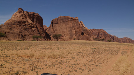 Abstract Rock formation at plateau Ennedi near Aloba arch , Chad Stock fotó