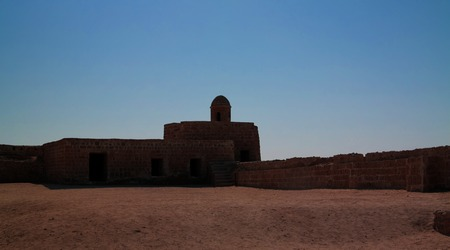 Ruins of Qalat fort near Manama in Bahrain