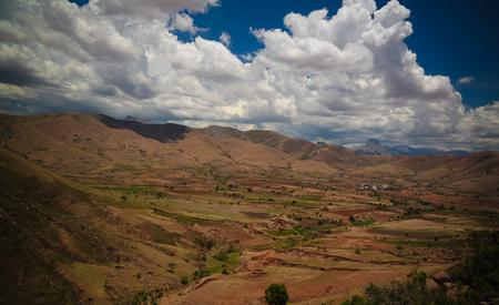 Landscape to Andringitra mauntain range at Ihosy, Madagascar