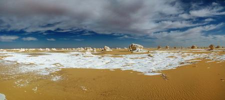 Abstract nature sculptures in White desert at Sahara, Farafra, Egypt