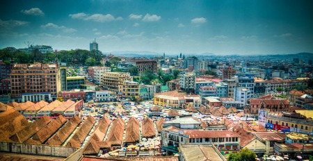 Aerial panoramic view to Antananarivo, the capital of Madagascar
