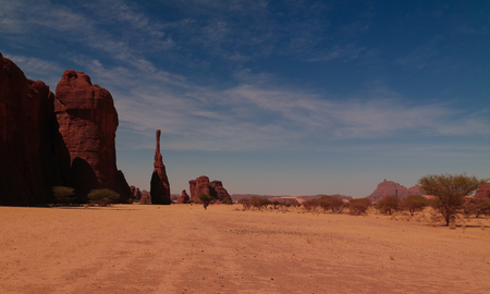 Abstract Rock formation at plateau Ennedi aka spire in Chad Stock fotó