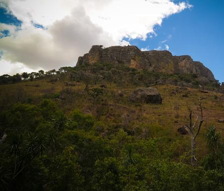 Abstract Rock formation in Isalo national park ,, Ranohira, Madagascar