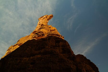 Abstract Rock formation at plateau Ennedi aka spire in Chad Banco de Imagens