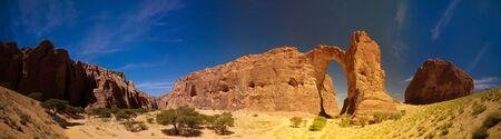 Abstract Rock formation at plateau Ennedi aka Aloba arch , Chad