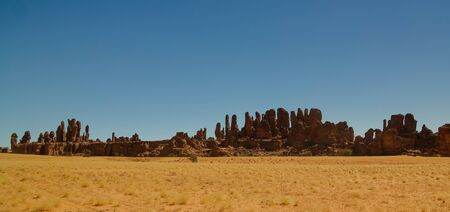 Abstract Rock formation at plateau Ennedi aka stone forest , Chad Stockfoto