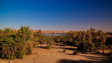 Panoramic view to Yoa lake group of Ounianga kebir lakes , Ennedi, Chad