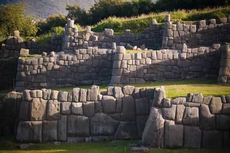 View to Sacsayhuaman UNESCO World Heritage site in Cusco, Peru Stock Photo