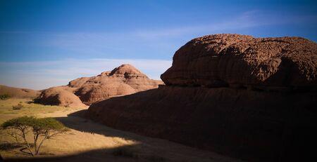 Abstract Rock formation at plateau Ennedi in Terkei valley and mountain , Chad