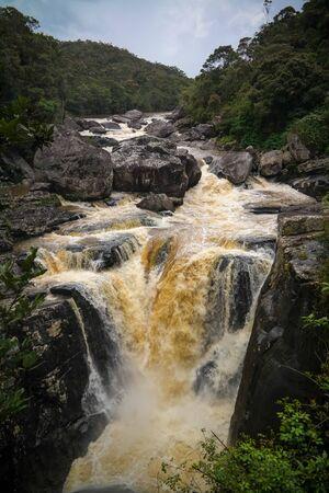 The Andriamamovoka Falls on the Namorona River in the Vatovavy-Fitovinany region, near Ranomafana National Park, Madagascar