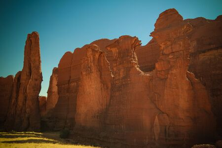 Abstract Rock formation at plateau Ennedi aka stone forest , Chad Stock Photo