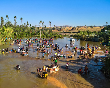 Mining of gems, gold and sapphires - 08 December 2018 Ilakaka Ihosy District, Ihorombe Region, Madagascar