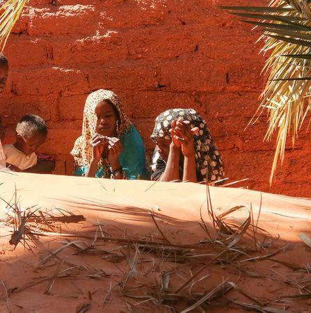 Portrait of Toubou, or Tubu woman - 10 november 2018 Demi village at Fada, Ennedi, Chad