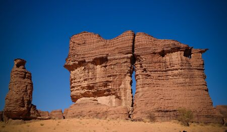 Abstract Rock formation at plateau Ennedi aka stone forest , Chad Archivio Fotografico