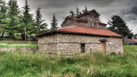 Exterior view to Saints Constantine and Helen Church in Ohrid, North Macedonia