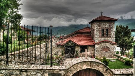 Exterior view to Church small St. Vrach St. Cosmas and Damian at Ohrid, North Macedonia