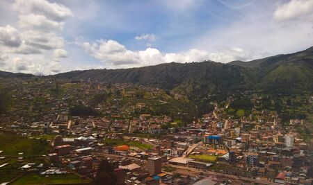 Aerial panoramic view to Cuzco city , Peru Reklamní fotografie