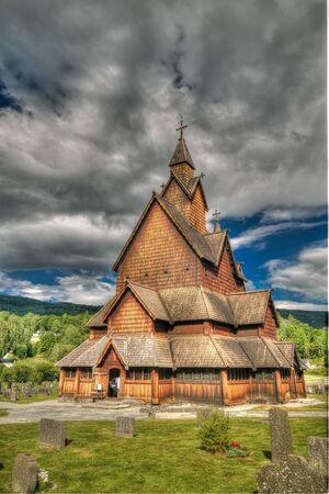 Heddal Stave Church, Norways largest stave church, Notodden municipality, Norway