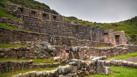 Exterior view to archaeological site of Tambomachay in Cuzco, Peru 스톡 콘텐츠 - 132297607