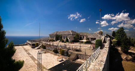 Landscape inside the Lekuresi Castle and military bunkers near Saranda, Albania