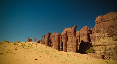 Abstract Rock formation at plateau Ennedi aka stone forest , Chad Stock fotó