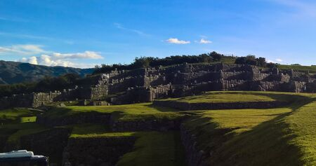 View to Sacsayhuaman  in Cusco, Peru 스톡 콘텐츠