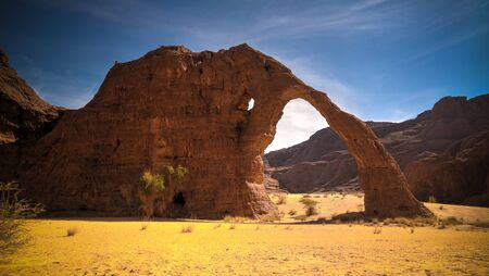 Abstract Rock formation at plateau Ennedi aka stone elephant, Chad