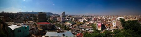 Aerial panoramic view to Antananarivo, the capital of Madagascar 스톡 콘텐츠 - 132855099