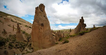 Close-up view to Devrent valley aka valley of imagination in Cappadocia, Turkey Imagens