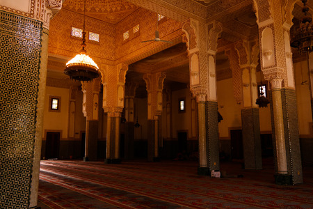 Interior of Niamey Grand mosque, Funded with money from Libyan Government of Gaddafi, Niamey, Niger