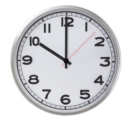 Single Clock - isolated on white photo