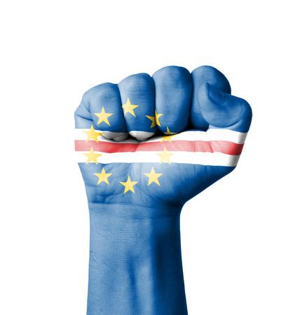 cape verde flag: Fist of Cape Verde flag painted