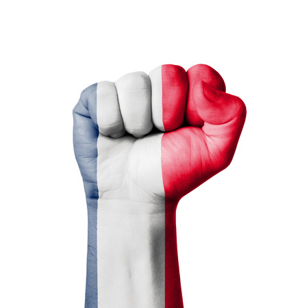 Fist of France flag painted photo