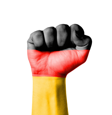 germany flag: Pugno di Germania bandiera dipinta