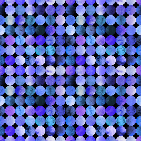 degrade: Abstract watercolor seamless pattern with gradient circles Stock Photo