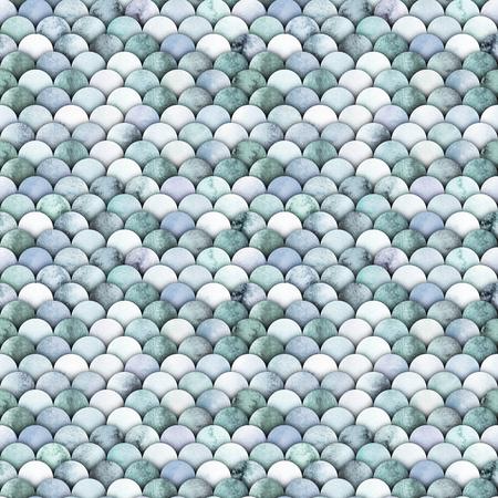 Small watercolor scales. Abstract seamless pattern. Marine design Foto de archivo