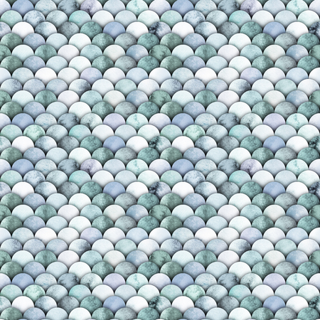 Small watercolor scales. Abstract seamless pattern. Marine design Stockfoto
