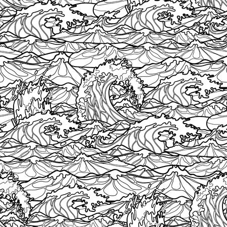 Marco Decorativo Blanco Negro, Líneas Fluidas, Estilo étnico Doodle ...