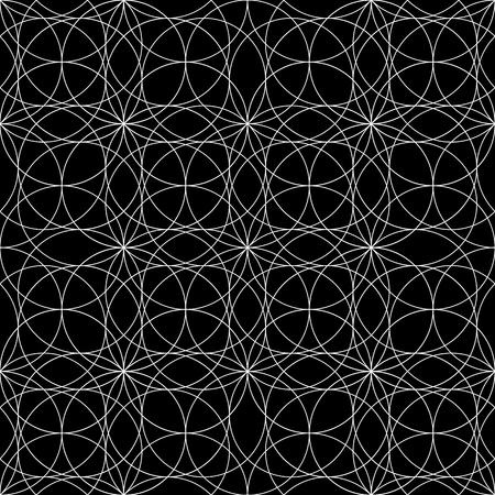 figuras abstractas: Modelo inconsútil de la geometría sagrada gráfico en colores blanco y negro