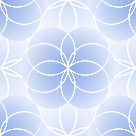 Graphic geometria sacra seamless. Vector fiore della vita in delicati colori blu