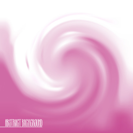 goody: Abstract swirl background in pink colors. Vector wavy design. Sweet candy.
