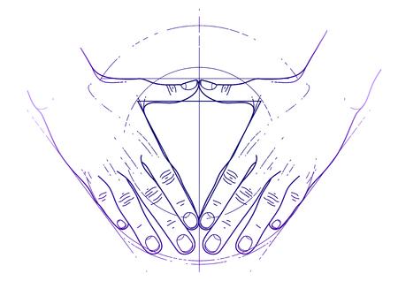 Sacred Geometry Tattoo Triangle