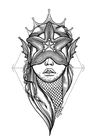 impression: Graphic mermaid head