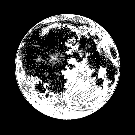 moon: Graphic full moon Illustration