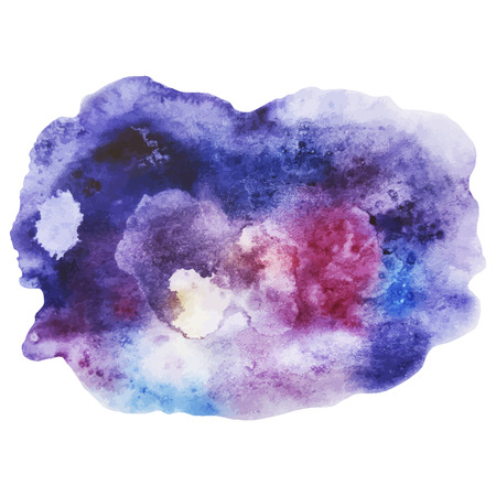 Watercolor outer space design