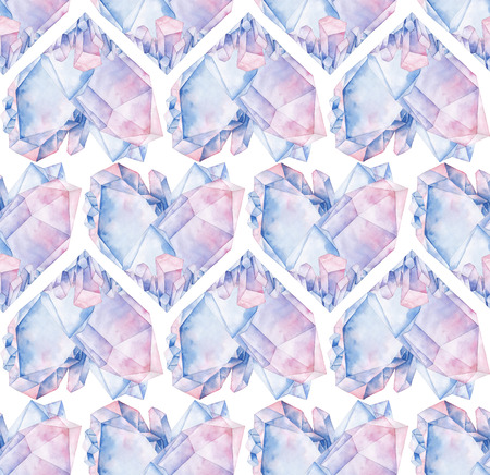 Watercolor crystal heart Stock Photo
