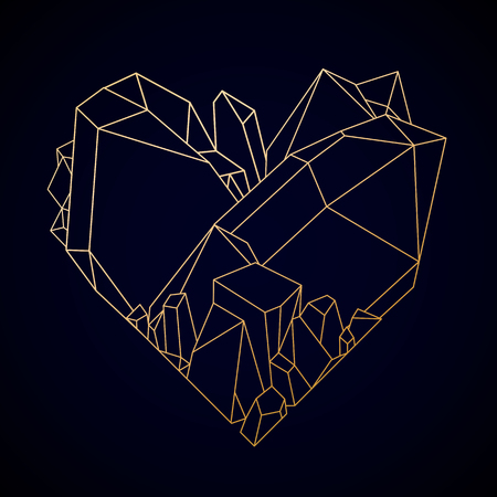 fourteen: Graphic crystal heart