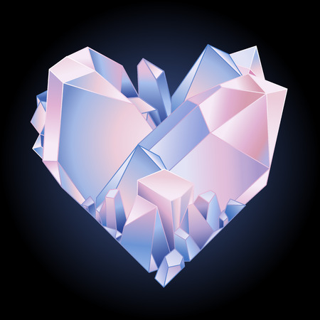crystal heart: Graphic crystal heart